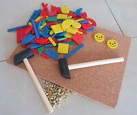 Nagelspiel Hammerspiel Korkplatten 220tlg. Lernspielzeugtop Qualität 200-08