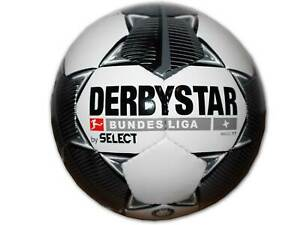 Derbystar-Bundesliga-Magic-TT-Fussball-Gr-5-weiss-schwarz-Training-Ball-Freizeit