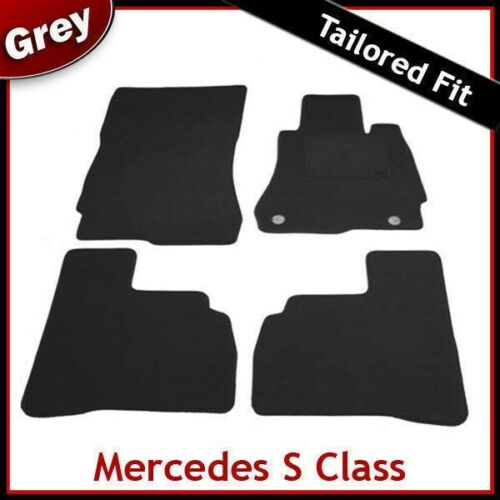 Mercedes Clase S W221 SWB 2006-2013 a Medida Alfombra Tapetes Gris