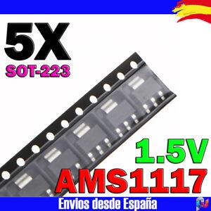 5x-AMS1117-REGULADOR-DE-TENSION-1-5V-1A-VOLTAGE-REGULATOR-LOW-DROPOUT-SOT-223