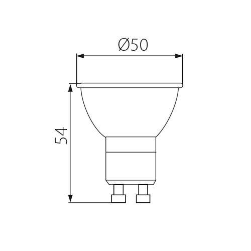 10x Kanlux LED 3.3W Cap GU10 Socket Warm White Home Lamp Spot Light Bulb 120D