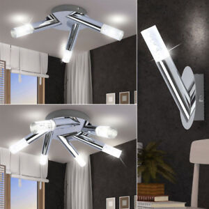 luxus led wand leuchten wohnraum decken flur lampen chrom strahler luftblasen ebay. Black Bedroom Furniture Sets. Home Design Ideas