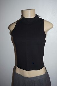 db685bb8b0b750 Image is loading NWT-WOMENS-ABERCROMBIE-amp-FITCH-BLACK-VICTORIA-CROP-