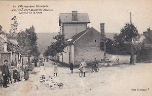 CPA-51-ABLOIS-SAINT-MARTIN-Marne-Avenue-de-la-Gare-La-Champagne-Illustree