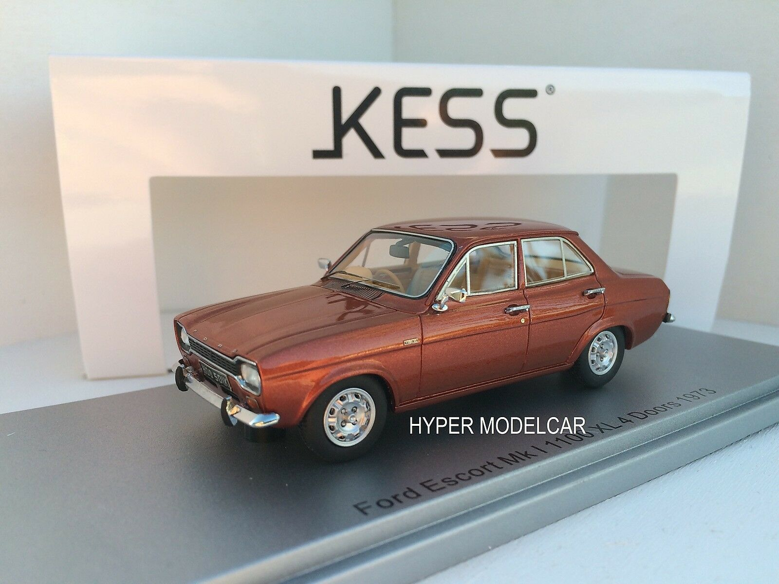 KESS MODEL 1/43 Ford Escort MKI 1100 XL Rhd 4-door 1973  Bronze Met.  KE43015011 | La Réputation D'abord