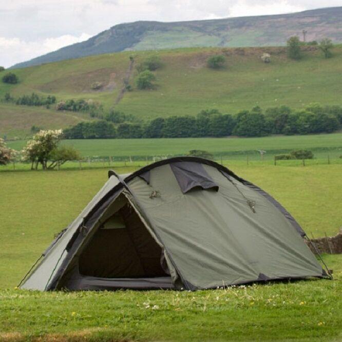 SNUGPAK bunker 3 uomini Survival Waterproof Hiking da Campeggio Outdoor Tenda tent Verde Oliva