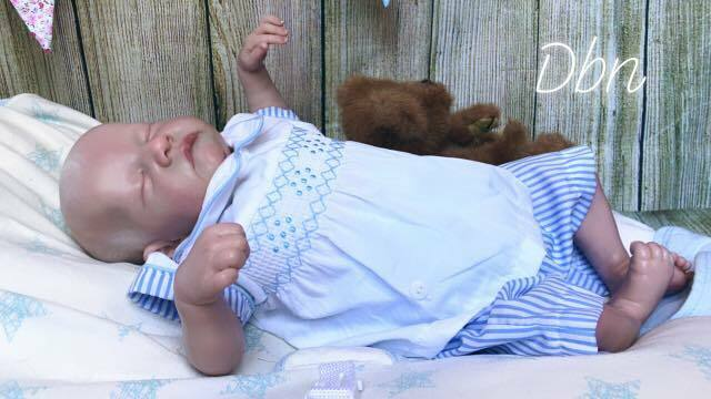 Genuine Reborn Baby Doll Levi with COA** CUSTOM ORDER**