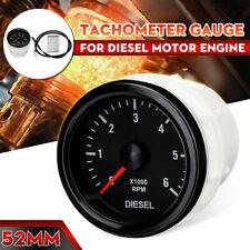 2 52mm Electrical Tachometer Gauge 0 6000rpm Led Display Meter For Diesel Motor