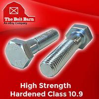 (20) M6-1.0x30 Metric Class 10.9 Hex Cap Screws Hex Bolts Zinc Clear