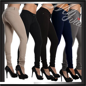 0c8f968657e30e Caricamento dell'immagine in corso panta-leggings-pantaloni-donna-pantalone -elasticizzato