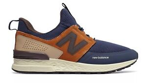 89e7156002958 NEW BALANCE 574 SPORT BLUE BROWN IN BOX NEVER WORN MS574DTX | eBay