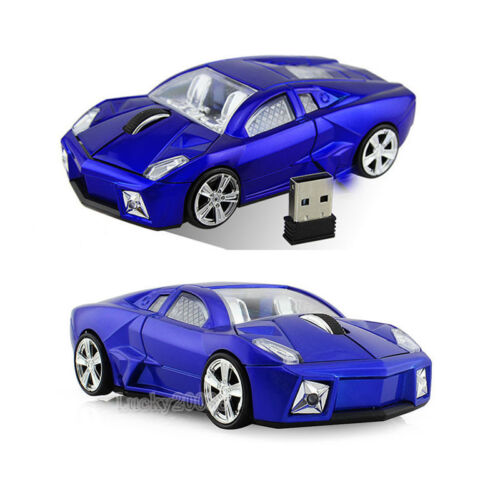 Cordless 2.4Ghz Wireless Lamborghini car Mouse Optical Game Mice USB Receiver US