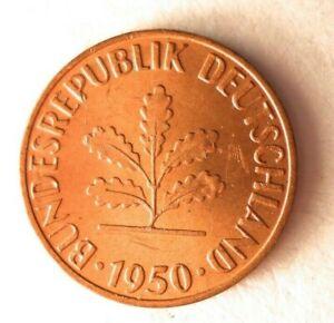 1950G-Alemania-Pfennig-Excelente-Moneda-Ganga-Bin-305