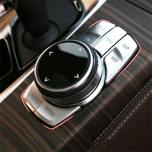 For BMW New 5 Series G30 2017 2018 Media Menu Control Button Cover Trim Sticker