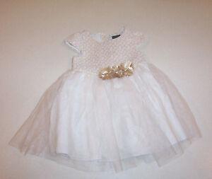 fcfab42df Girl's George Cream & Gold Metallic Tulle Skirt Party Dress 4 | eBay