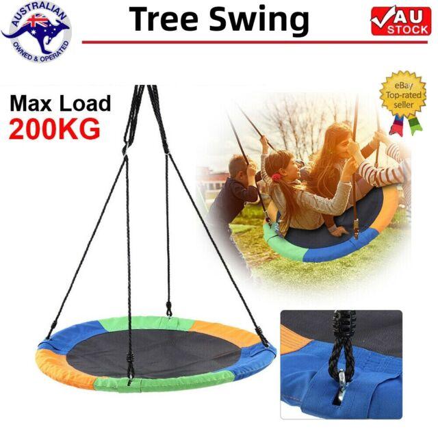 100cm 40'' Tree Swing Large Round Seat Kids Children Home Yard 200KG Capacity