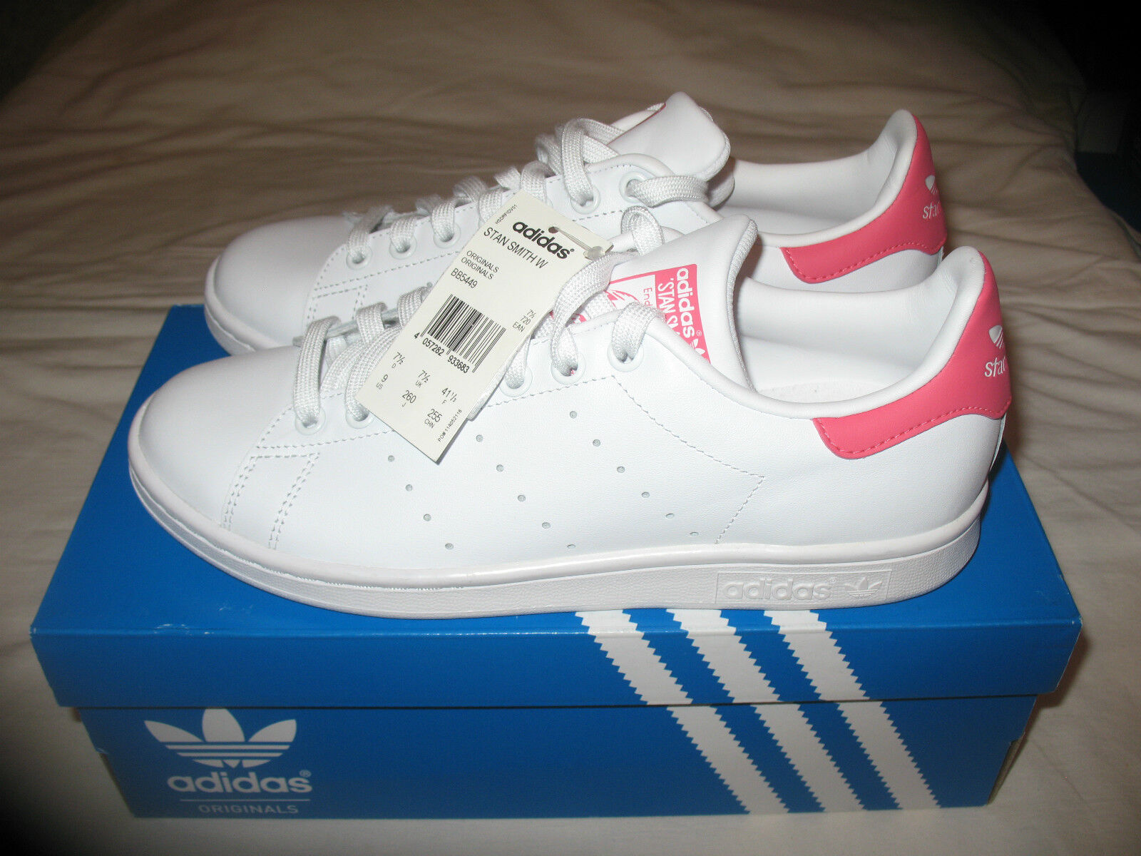 NEW Adidas Originals Stan Smith W blanc/rose8 US 9.5 F 42 BB5449