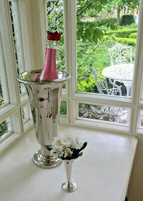 Ordinato D'argento Calice Vaso Di Rose Alta Vaso-jardiniere-vino-spumante Radiatore-tavolo Vaso-