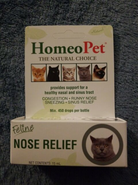 HomeoPet Feline Nose Congestion Relief Homeopathic Remedy Cat Kitten 15mL