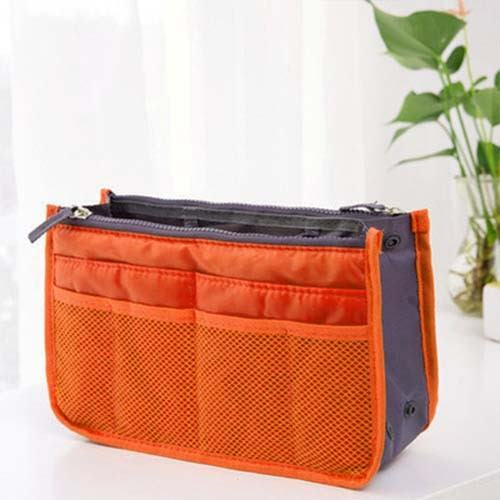 Women Lady Travel Insert Handbag Organiser Purse Large Liner Organizer Tidy Bag Orange Ebay