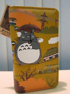 Studio Ghibli My Neighbor Totoro Long Wallet Purse coin bag slot #G