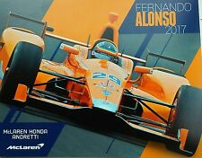 2017 FERNANDO ALONSO INDIANAPOLIS 500 ONLY INDY CAR 8X10 PROMO HERO CARD
