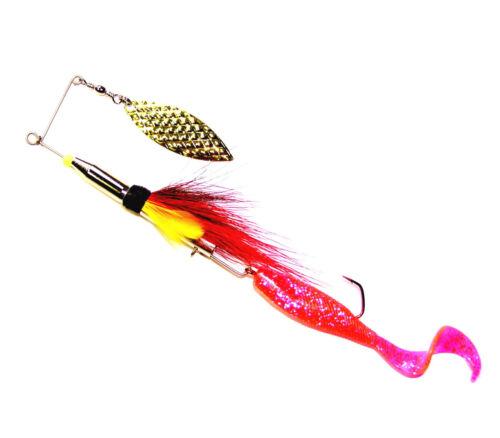 Spin Flyer Magic,20cm,Streamer Spinner,Spinner,Hecht,Zander,Hand Made,Gummifisch