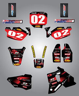 Full  Custom Graphic  Kit -Barbed Style - HONDA CR 80 1996 / 2002