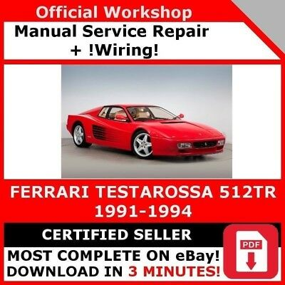 factory workshop service repair manual ferrari testarossa 512tr ... ferrari 512 tr for wiring diagram  ebay