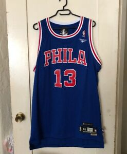 buy online be483 73c08 Details about Reebok 76ers Wilt Chamberlain #13 Phila Hardwood Classic  Jersey Mens XL