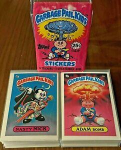 MINT 1985 Topps Garbage Pail Kids Original 1ST SERIES 1 Set GPK Nasty Nick OS1