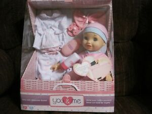 You Me 14 Baby Doll With Keepsake Basket Reusable Storage Trunk