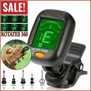 LCD-CLIP-ON-CHROMATIC-ACOUSTIC-ELECTRIC-For-GUITAR-BASS-UKULELE-BANJO-TUNER-US