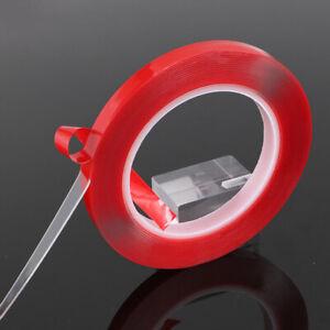 Coche-Doble-Cara-Cinta-Acrilico-Transparente-Adhesivo-300cm-Resistente-Rayos-UV