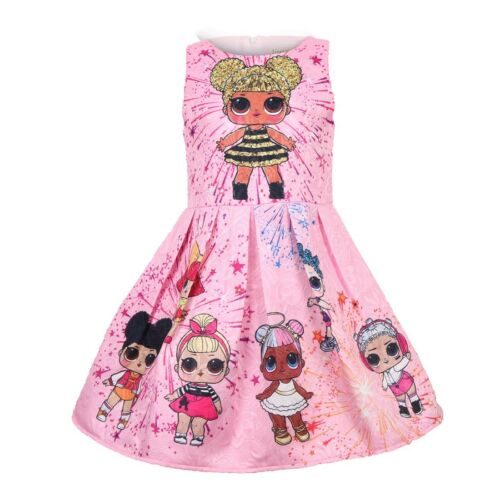 HOT LOL Girls Lol Surprise Doll Princess Dress Kid Party Holiday Dress UK POST