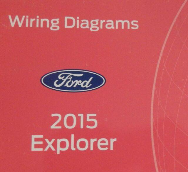 2015 Ford Explorer Suv Wiring Electrical Diagram Manual Oem Ewd 2015