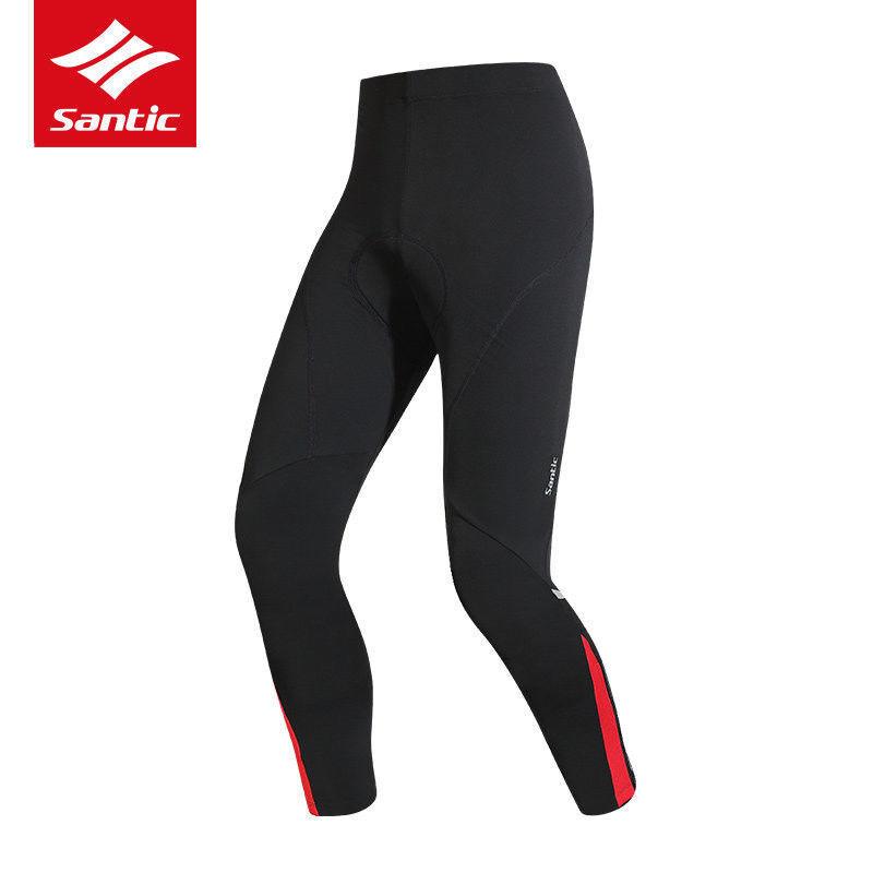 Santic Para Hombre De Invierno  Ciclismo Deporte pantalones a prueba de viento Lana térmica 4D Acolchado Calzas  ventas en línea de venta