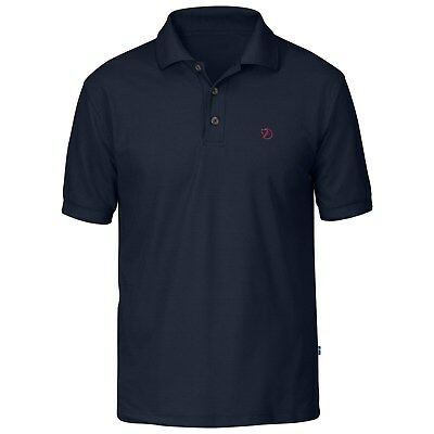 F81783 Herren Poloshirt FjällRäven Crowley Pique Shirt black