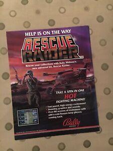 Bally-Midway-Rescue-Raider-Video-Arcade-Game-Machine-Flyer-1987-NOS