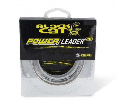 0,50€//1m Black Cat Power Leader 50kg 20m Wallervorfach Wallerschnur Welsschnur