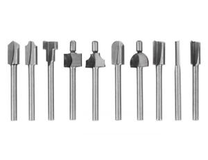 10pcs 3 Mm 1 8 Mini Shank Hss Titanium Router Bits For Dremel Rotary