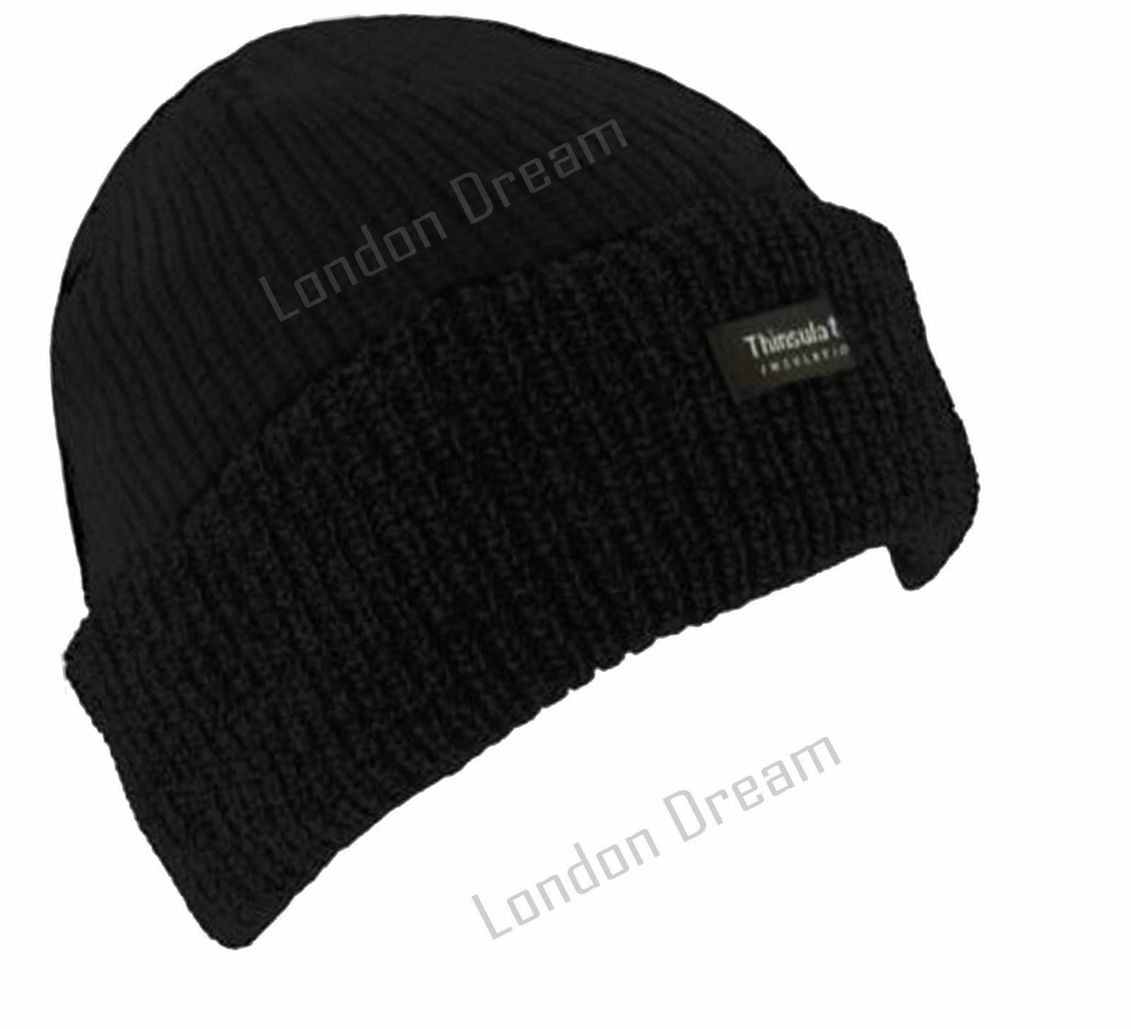 Thinsulate Beanie Hat Knitted Warm Winter Woolly Outdoor Chunky Thermal Ski Hat