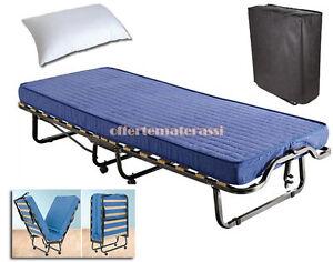 Brandina pieghevole letto con materasso e cuscino omaggio pronta consegna ebay - Letto pieghevole con materasso ...
