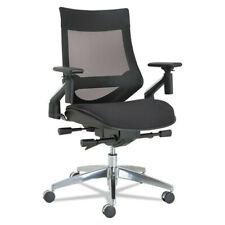 Alera Ebw4213 Eb W Aluminum Multifunction Pivot Arm Mesh Chair Black New