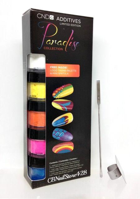CND Additives - PARADISE 5 Colors + FREE Logo Thumb Palette & Mini Spatula