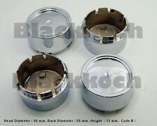 4x No LOGO Wheel Center cap hubs car Chrome finished 60 mm x 56mm #079