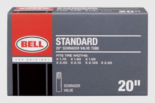"BELL SPORTS 20/"" Universal Schrader Valve Bike Tube Bicycle 1.75/"" 2.25/"" 7015357"