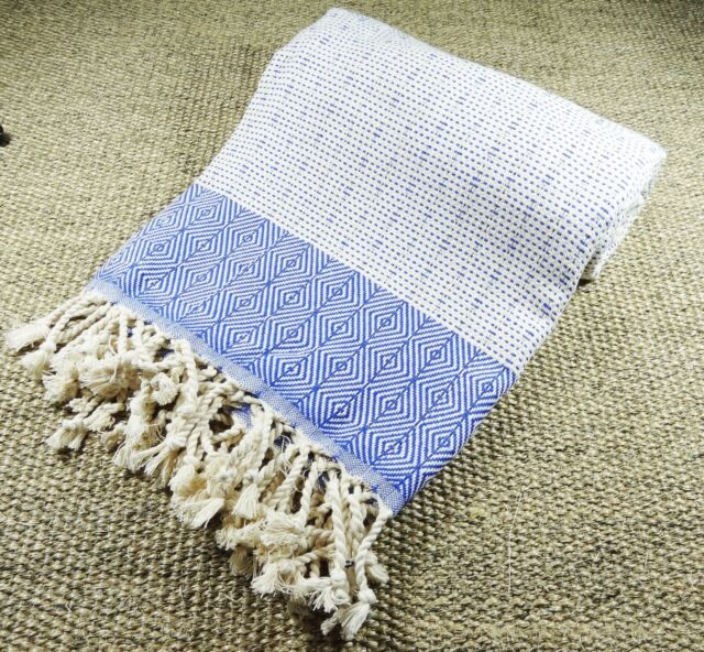 Morganicsbeauty Nefes Peshtemal, Beach Towel Blue 100x180cm 100% Cotton