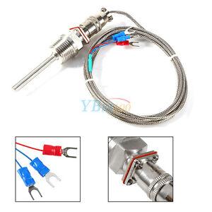 RTD-PT100-Temperature-Sensors-1-2-034-NPT-Threads-with-Detachable-Connector-2M-yfq