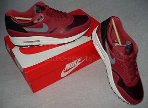 Détails sur Nike Air Max 1 L leather rouge bordeaux Taille 40 41 42 43 654466 600 afficher le titre d'origine